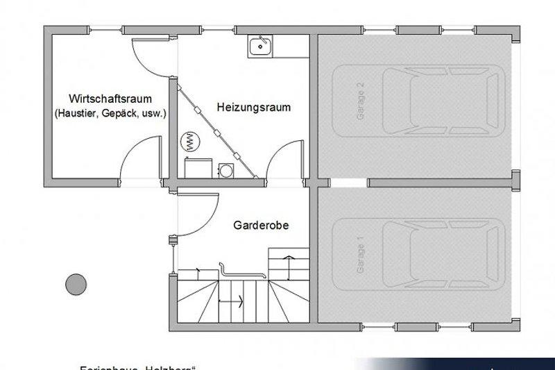 Grundriss Erdgeschoss Ferienhaus Holzberg