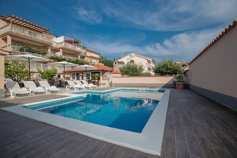 Apartments Dania mit Pool, im Lopar, Insel Rab, Kroatien