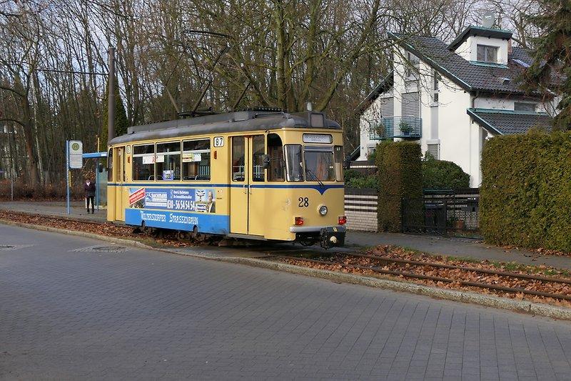 Woltersdorfer Straßenbahn 20m entfernt