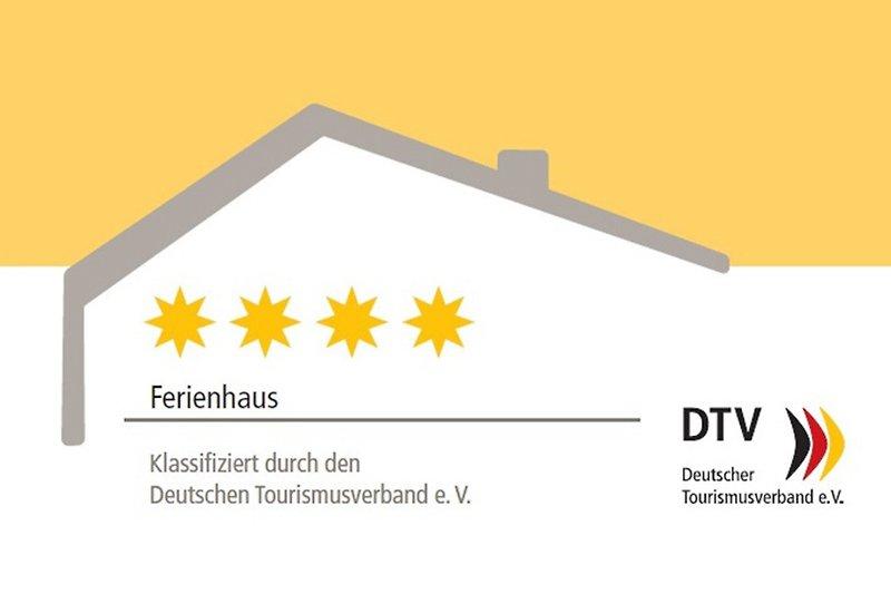 Das Linnehus iist vom DTV mit 4 Sternen zertifiziert.