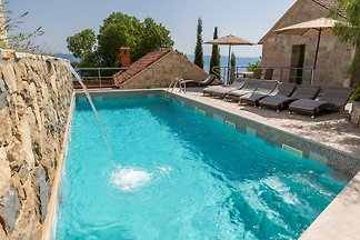 Three stone villas with pool