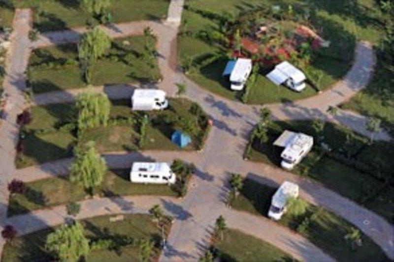 Luftaufnahme Campingbereich