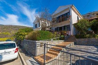 Ferienhaus mit Balkon und Meerblick