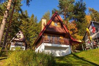 Hütte mit Aussicht auf Lipno See