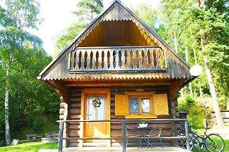 Ferienhaus am Wald mit Seeblick