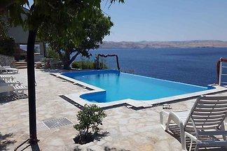 Ferienwohnung mit Poolnutzung und Meerblick