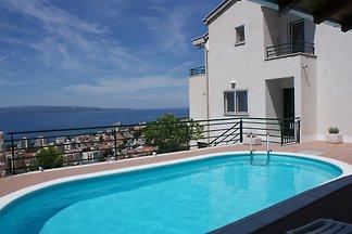 Ferienwohnung mit Pool und Panoramablick