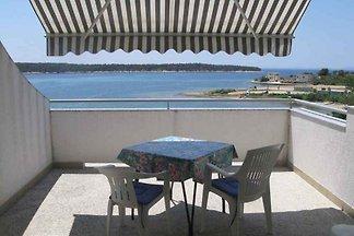 Ferienwohnung mit Terrasse und Meerblick unwe