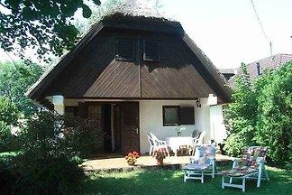 Ferienhaus in der Umwelt, mit Schilfdach, nur