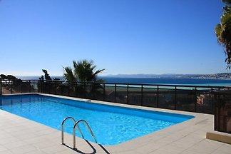 Ferienwohnung mit Balkon und Meerblick