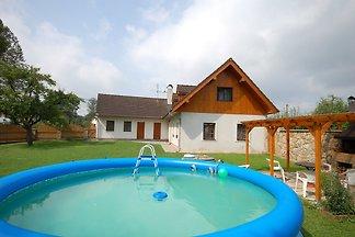 Ferienhaus mit Aussenpool und Garten