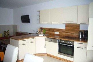 Ferienwohnung mit Ofen und Ofenbank