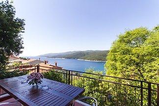 Ferienwohnung mit Terrasse und Blick auf das