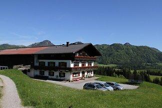 Ferienwohnung mit Bergblick auf Bauernhof