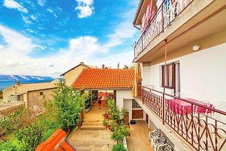 Ferienwohnung sa terasom i pogledom na more