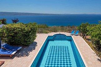 Villa medencével és panorámával