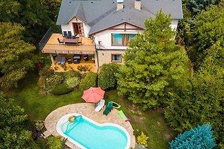 Ferienhaus mit Pool und Ausblick zum Balaton