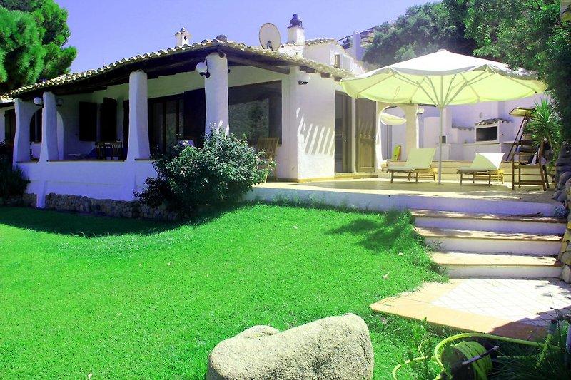 Die Aupenansicht der Villa Palme