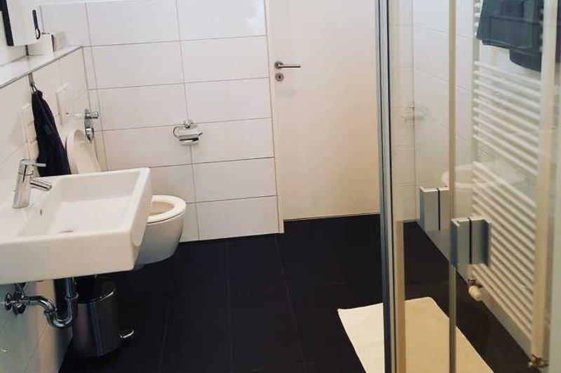 Badezimmer Ansicht aus Wohnbereich