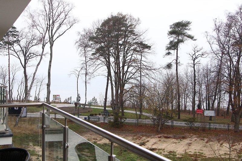Balkonblick auf die Ostsee