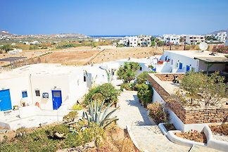 Beautiful apartment built in cycladic style with sea view,    sqm .kitchen fully equipped, bathroom with WC and shower.
