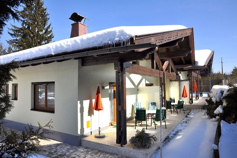 Seebungalows Karglhof im Winter