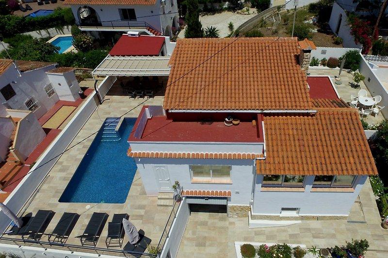 vista aérea de la vivienda