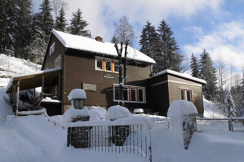 Bergchalet im Winter