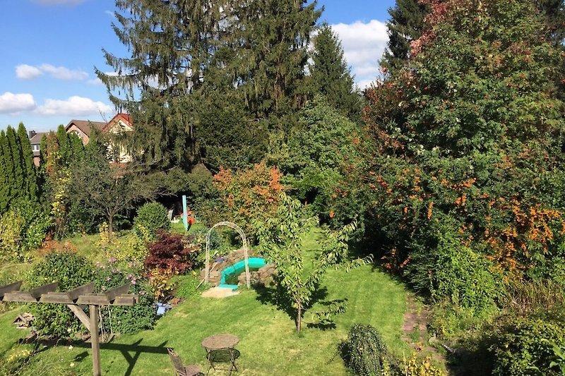 Der Garten aus dem Wohnzimmer