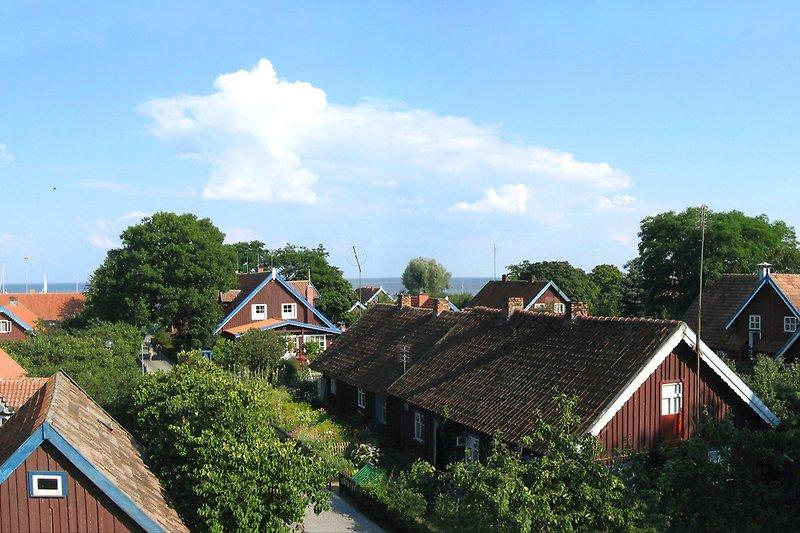 Panoramablick von Terrasse und Wohnbereich