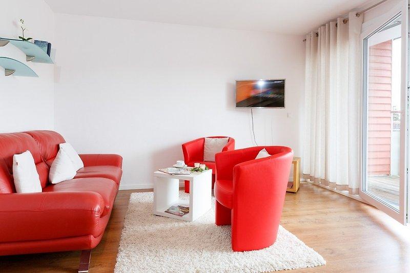 heller Wohnraum mit viel Licht, einfach ideal zum Entspannen nach langen Spaziergängen