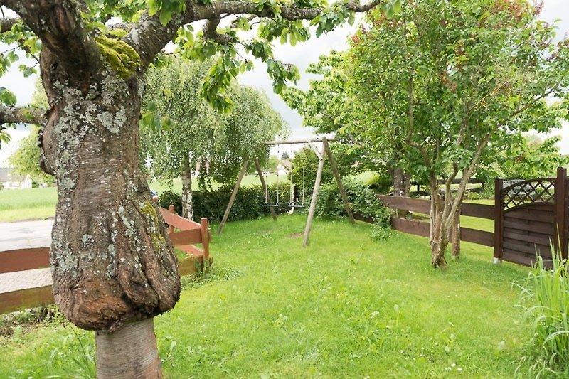 Garten mit Schaukeln