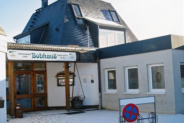 Blick aufs Bobhaus