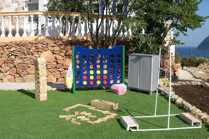 A selection of giant garden games will keep everyone amused.