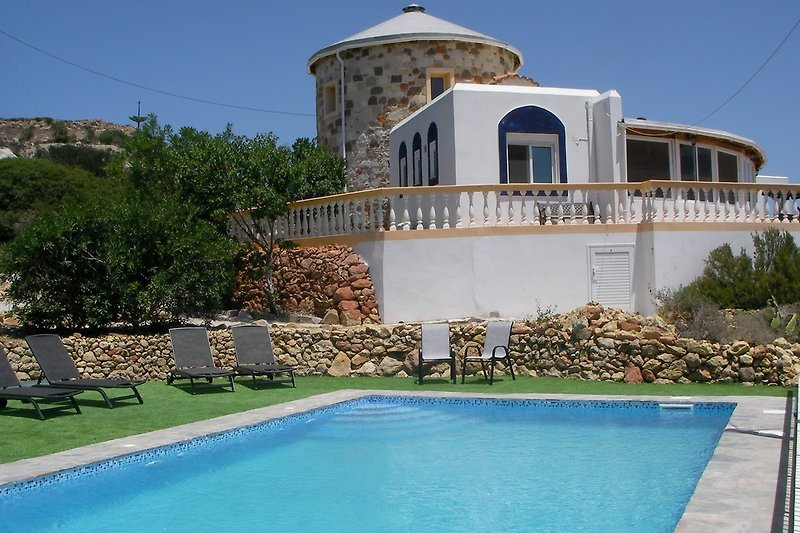 The spectacular Tower House in Kos is perfect for group and family holidays as it accommodates up to 16 people in 8 bedr