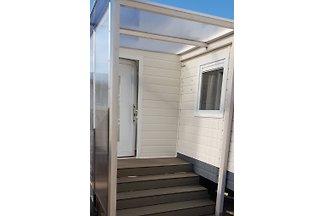 Neues Luxus Chalet in der Vermietung auf dem 5 Sterne Campingplatz Julianahoeve in Renesse.  Maximale Belegung 4 Personen