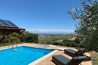 Casa Monte Bugaro, Pool, Meerblick