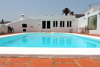- Casa Blanca is an 8 bedroom, 4 bathroom Villa in Mácher, Lanzarote.   - Sleeps up to 22, with another 8 beds available = total 30.  - Private Pool and; Games Room.