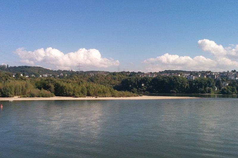 Blick auf die Insel Niederwerth