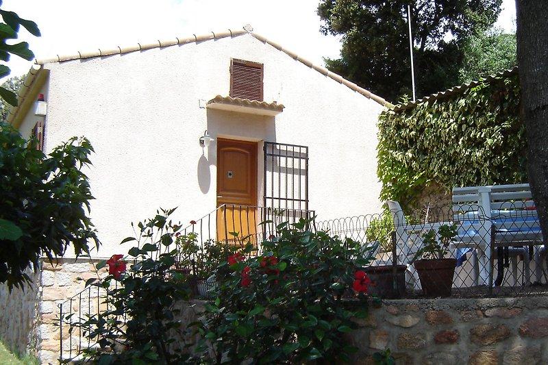 Eingangstür mit Terrasse