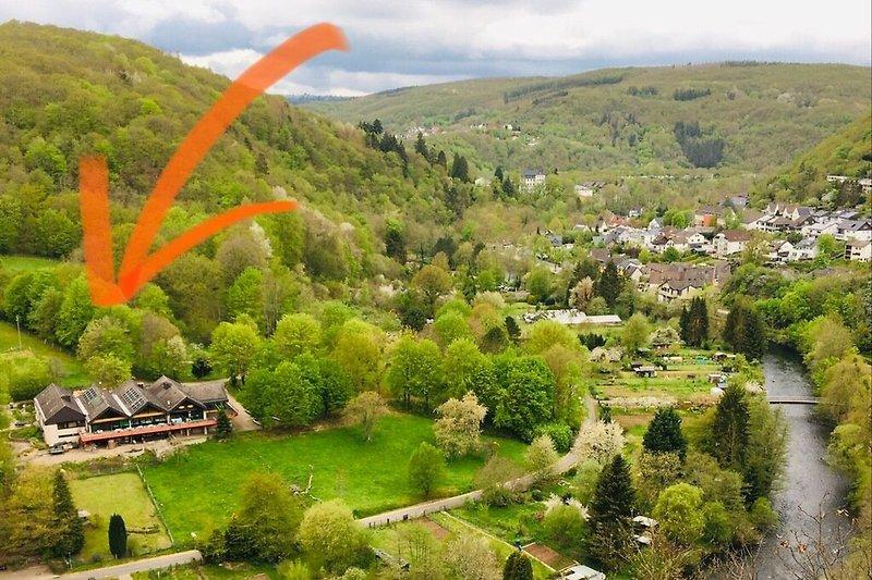Wildnishaus in het kuurpark van Heimbach