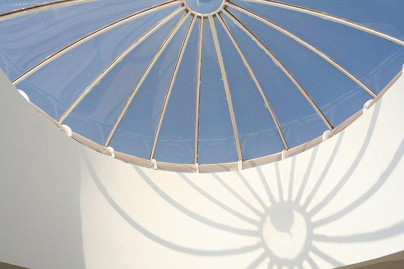 Lichtkuppel im Patio