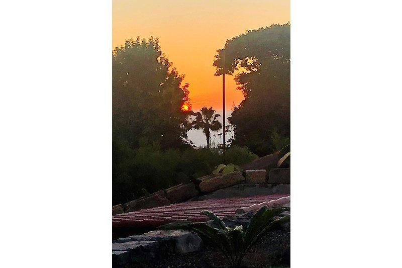täglich herrliche Sonnenuntergänge