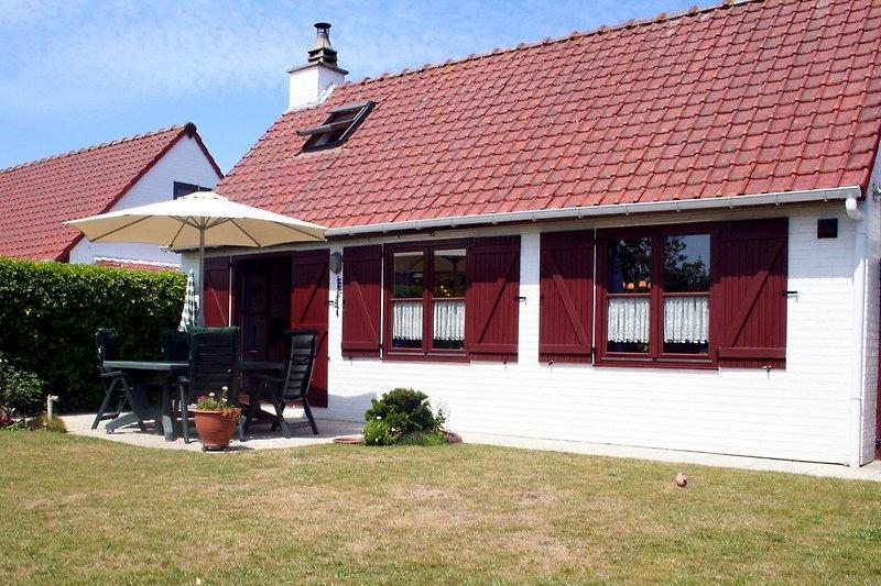 Blick auf das Ferienhaus Hermine