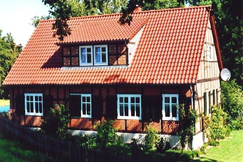 Ferienhaus an der Elbe in Wootz Außenansicht des Hauses