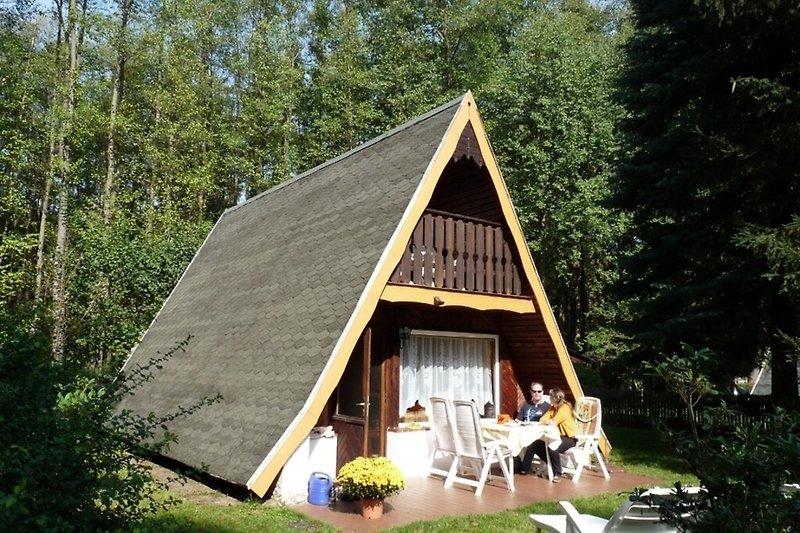 Ferienhaus in der Uckermark in Templin Ahrensdorf Hausansicht