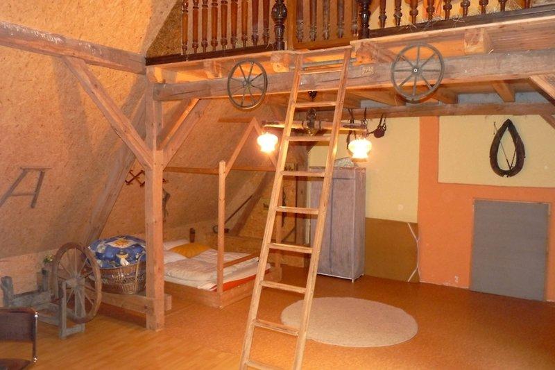 Ferienhaus im Spreewald in Golßen in Gersdorf schlafen im Stroh