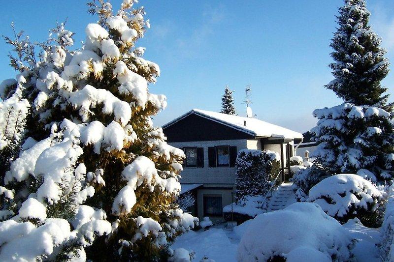 Das Ferienhaus der Familie Künzl im Winter