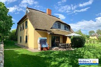 Reetdachhaus mit WPool& Sauna Kamin