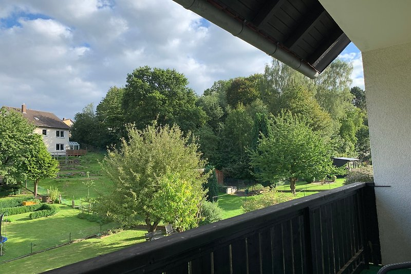 Vom Balkon in die Umgebung geblickt